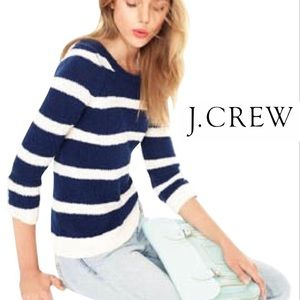 J. Crew Twisted Stitch Open Neck Sweater